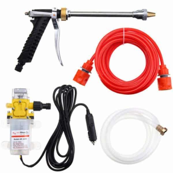 USA Premium Store DC 12V 100W 160PSI High Pressure Car Washer Cleaner Water Wash Pump Sprayer Kit