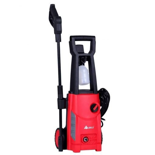 URSTAR Electric Pressure Washer with Adjustable Spray Nozzle and Detergent Tank (Red)