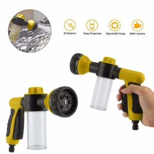 FOONEE High Pressure Power Washer/Hose Soap Sprayer/Car Wash Foam Gun 8 Way Spray Pattern for Car Wash/Watering Flowers Green/Yellow