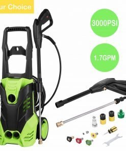 Meflying Electric High-Pressure Washer, 1800W 3000PSI 1.7GPM Electric Pressure Washer with Power Hose Nozzle Gun (US Stock)