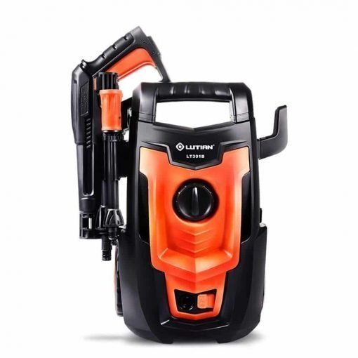Electric Car Washing Machine High Pressure Car Washing Machine Home 220V 1400W IPX5 Waterproof Car Wash Pump Portable Water Gun (Orange) (Color : #1)