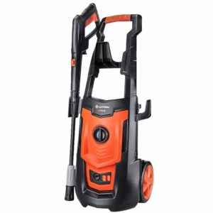 Electric Car Washing Machine High Pressure Car Washing Machine Household 220V 50Hz 1800W Car Wash Pump Portable Water Gun (Orange) (Color : #1)