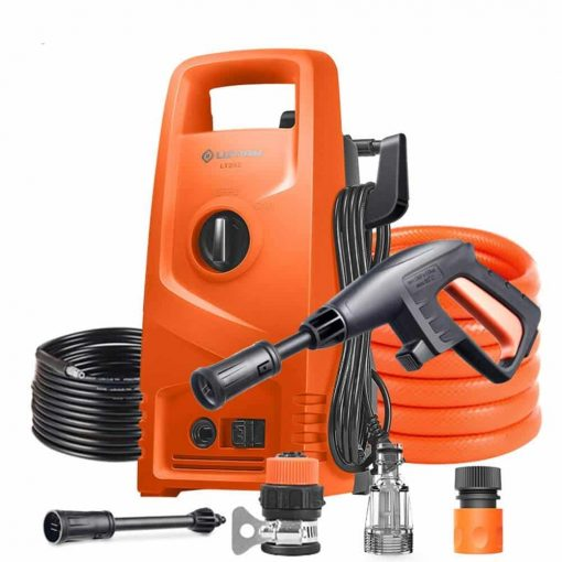 Electric High Pressure Car Washing Machine Home 220V 1200W IPX5 Waterproof Induction Adjustable Gun Head Car Wash Pump Portable Water Gun (Orange) (Color : #1)