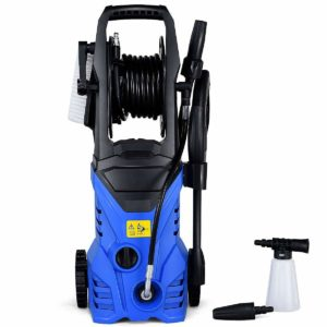 Goplus Electric High Pressure Washer 2030PSI 1.6GPM Power Pressure Washer Machine w/Wash Brush and High Pressure Hose (Blue)
