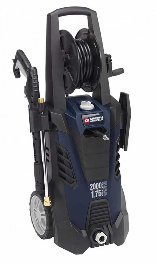 Campbell Hausfeld Electric Pressure Washer, Portable 2000 Max PSI Power Washer, 1.75 GPM with Accessories and Built in Storage PW190200