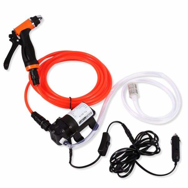 Yosoo Car Wash Pump, 12V Portable High Pressure Self-Priming Quick Car Cleaning Water Pump Electrical Washer Kit
