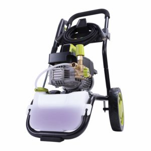Sun Joe SPX9008-PRO Series 2.41 HP 1800 PSI 1.6 GPM Commercial Pressure Washer with Roll Cage, Green/Black