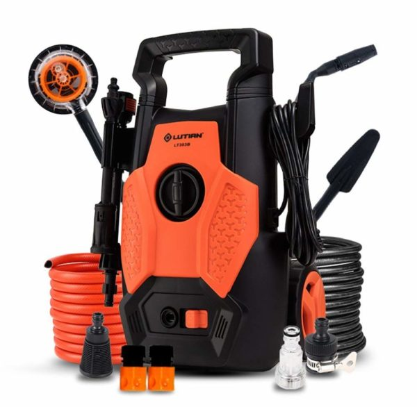 BMDHA Pressure Washer High Pressure 1400W 220V Household Multifunction 360° Waterproof Car Washer Glass/Ground/Motorcycle, Etc.