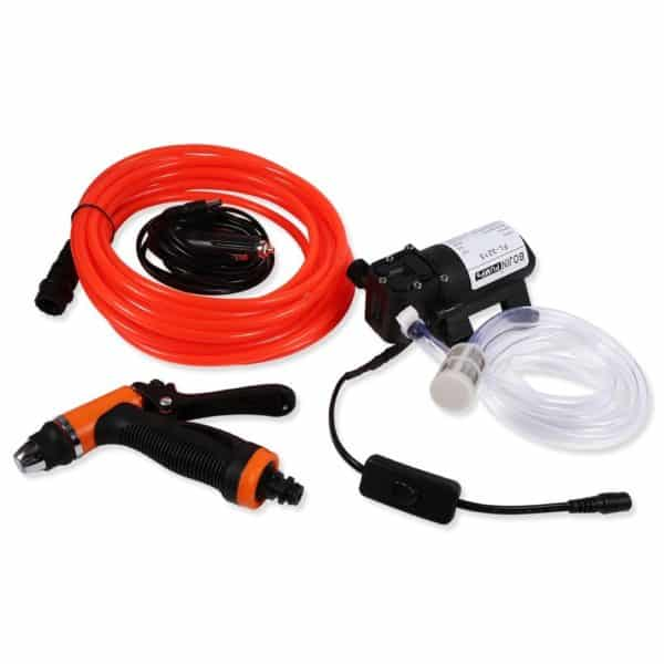 Car Washer Kit, 12 Volt Portable High Pressure Water Pump Self-Priming Quick Car Cleaning Water Pump Electrical Washer Device for Car Garden Projects Cleaning