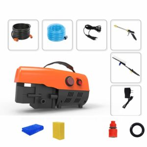 Electric High Pressure Car Washing Machine 12V Electric Convenient High Pressure Car Wash Water Gun Cleaning Machine Wireless Lithium Battery (Color : #2)