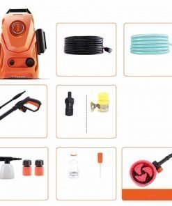 Electric High Pressure Car Washing Machine Household 220V Induction Child Lock Self-Priming Dual-use Adjustable Gun Head Car Wash Pump Portable Water Gun (Small) (Color : #3)