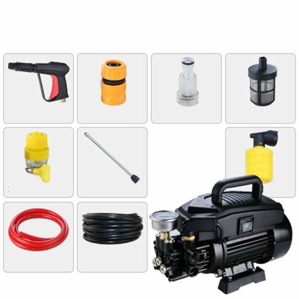 High-Pressure Car Washing Machine Home 220V Portable Water Gun Manual Brush Adjustable Nozzle Electric Washing Machine, for Watering (car Wash) (Color : #3)