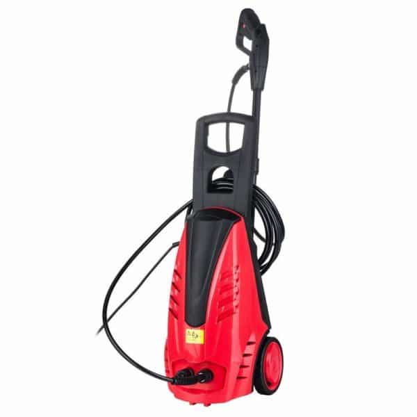Electric High Pressure Washer Professional Motor Washer Cleaner Machine with Rolling Wheels, US Stock (Red-1800W)