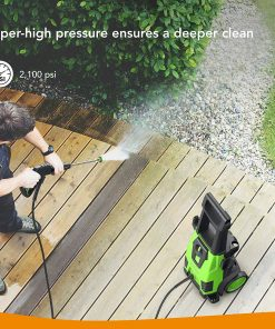 Roav, by Anker, HydroClean Electric Pressure Washer, Power Washer with 2100 PSI, 1.78 GPM, Longer Cables and Hoses, and Detergent Tank, for Cleaning Cars, Houses Driveways, Patios, and More