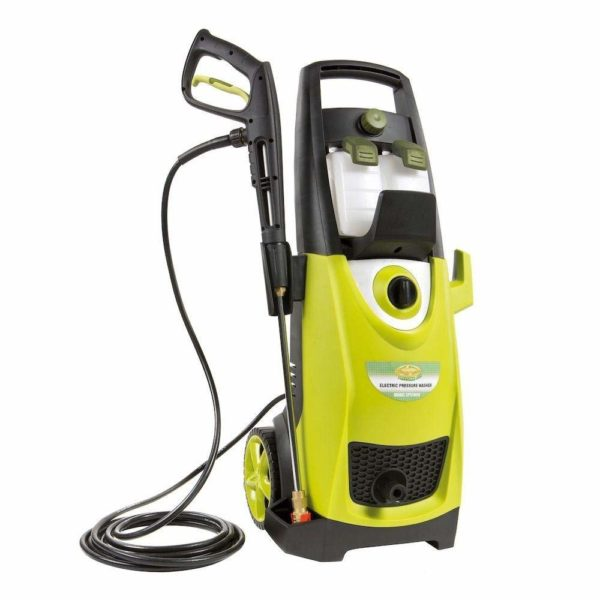 Sun Joe SPX3000 Pressure Joe 2030 PSI Electric Pressure Washer Accessory Bundle Includes Pressure Washer, Quick-Spray Tip and Brass Connector (Green)