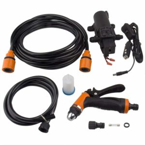 Big-Autoparts Mini and Portable Car Washer Pump Electric Powerful 100W 160PSI Water Pump High Pressure Wash Gun 12V