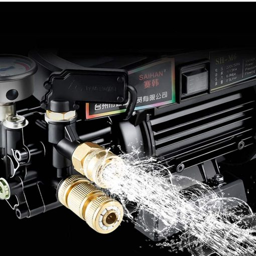 Upgraded Version of High Pressure Car Washing Machine Home 220V Portable Water Gun Manual Brush Adjustable Nozzle Electric Washing Machine for Watering (car Wash) (Color : #4)