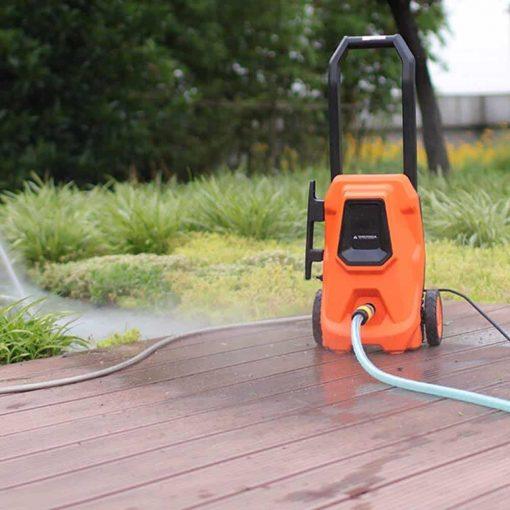 Electric High Pressure Car Washing Machine Household 220V Induction Child Lock Self-Priming Dual-use Adjustable Gun Head Car Wash Pump Portable Water Gun (Color : #3)