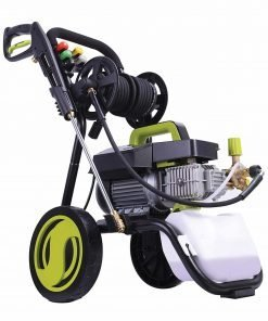Sun Joe SPX9009-PRO Series 2.41 HP 1800 PSI 1.6 GPM Commercial Pressure Washer with Roll Cage, Green/Black