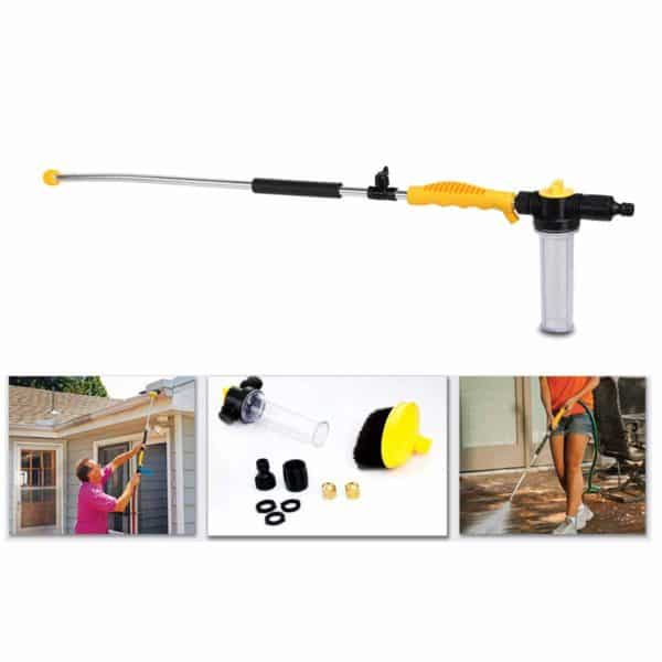 Abseco High Pressure Power Washer Spray Nozzle Water Hose Wand Garden Hose Wand Garden Hose Spray Gun High Pressure Spray Nozzle for Car Home Washing