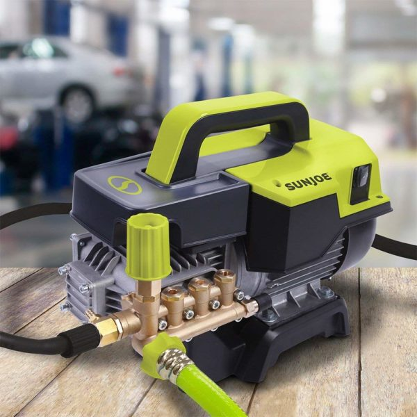 Sun Joe SPX9004-PRO 2.15 HP 1300 Psi 2 GPM Commercial Pressure Washer, Green/Black