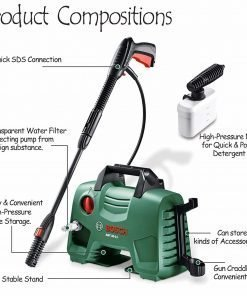 Bosch AQT 33-11 High-Pressure Washer Portable Lightweight 220V (AQT 33-11)