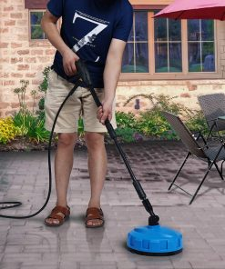 SUNGOLDPOWER Electric High Pressure Washer Max 2000PSI 1.56 GPM with (4) Nozzle Adapter with Hose Reel Soap Dispenser Patio Cleaner