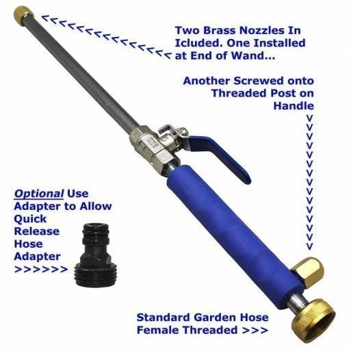 TG888Warehouse High Pressure Spray Wand Nozzle Power Washer Deck Car Garden Hose Attachment car Cleaner