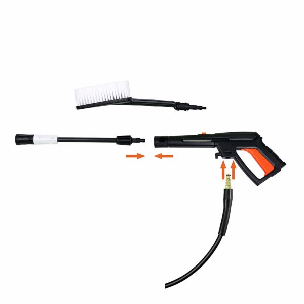 2100PSI 1.8 GPM Pressure Washer Machine with Power Hose Gun Turbo Wand Built in Soap Dispenser Nozzle Adapter Brush