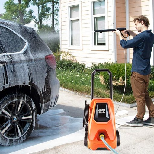 Electric High Pressure Car Washing Machine Household 220V Induction Child Lock Self-Priming Dual-use Adjustable Gun Head Car Wash Pump Portable Water Gun (Color : #3)