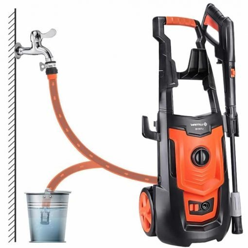 Electric Car Washing Machine High Pressure Car Washing Machine Household 220V 50Hz 1800W Car Wash Pump Portable Water Gun (Orange) (Color : #1)