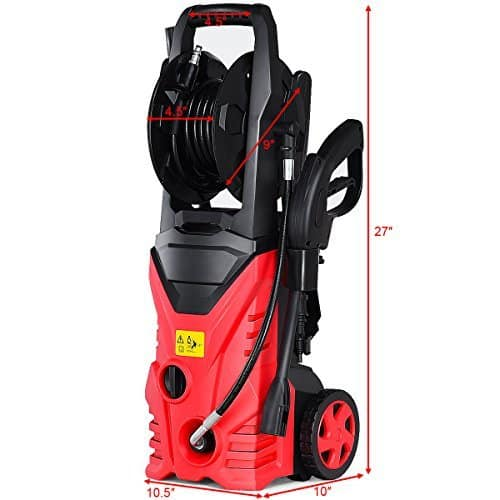 Goplus Electric High Pressure Washer 2030PSI 1.6GPM Power Pressure Washer Machine w/High Pressure Hose and Wash Brush (Red) 4