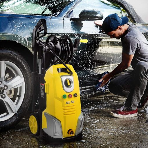 XtremepowerUS XP3000S Max Jet 2000 PSI Electric Pressure Washer w/Reel Hose, 1.7 GPM
