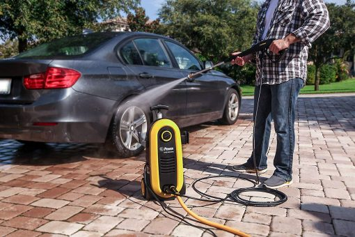 Power Pressure Washer 2200 PSI Electric 1.76 GPM Brushless Induction Technology | The Next Generation of Pressure Washer | 4X More Lifespan | Ultra Low Sound Power Efficient (Yellow)
