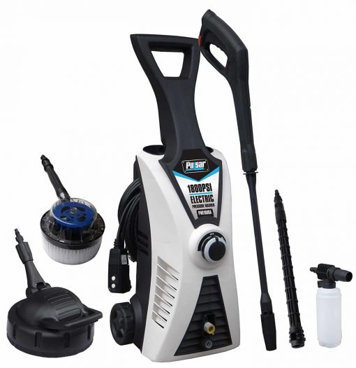 Pulsar Products 1800 psi Electric Pressure Washer with Two Brushes