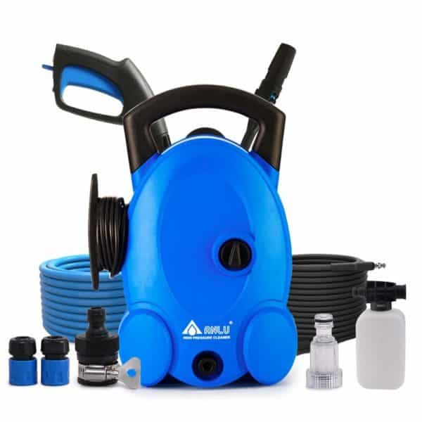 Car Washer Electric High Pressure Household 220V with Filter Nut and Foam Tank, for Car Pet Window Watering and Camping (Car Wash)